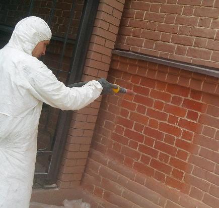 Очистка фасада бластинг