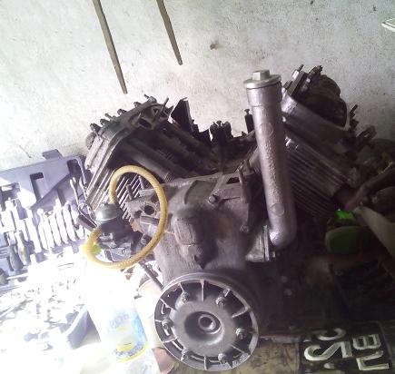 Пескоструй двигателя