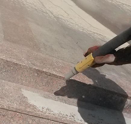 Пескоструй гранита