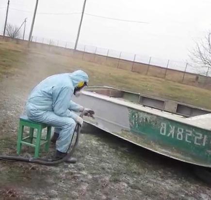Пескоструй лодки