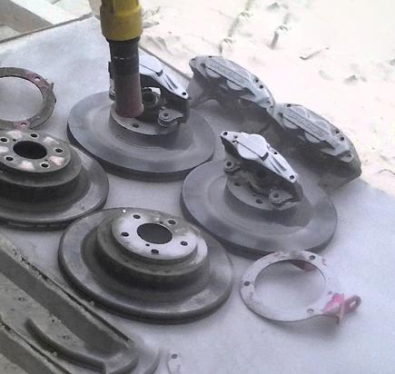 Пескоструй тормозных дисков