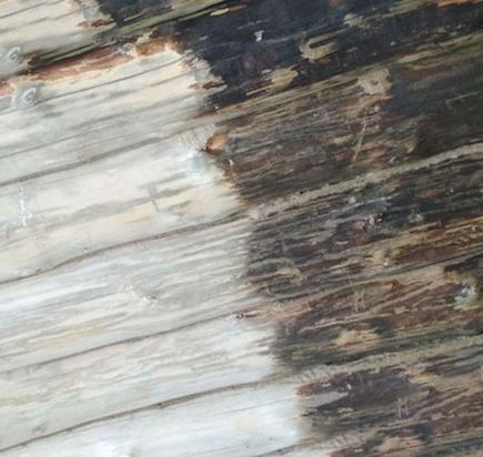 Пескоструйная обработка деревянного дома