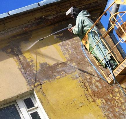 Пескоструйная обработка стен