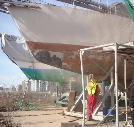 Пескоструйная обработка судов