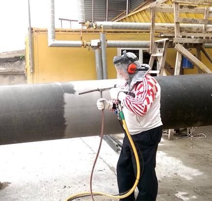 Пескоструйная обработка труб