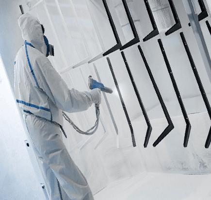 Порошковая окраска и полимеризация