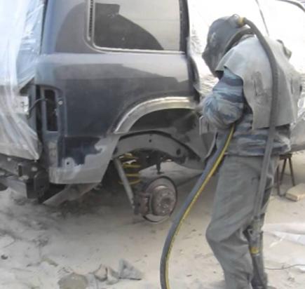 Пескоструйная обработка узлов и агрегатов автомобиля