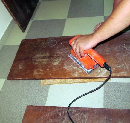 Реставрация поверхности мебели