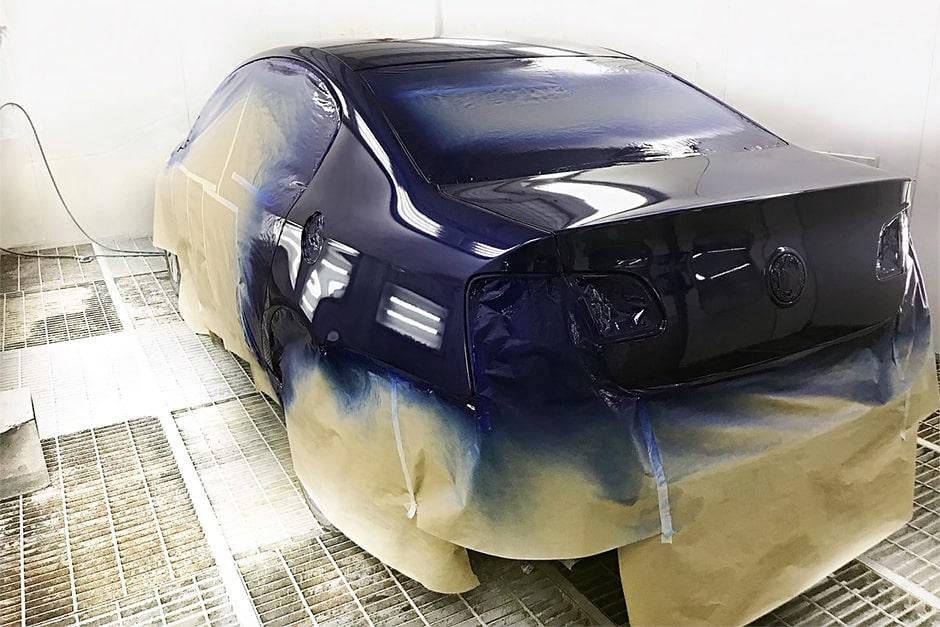 этапы покраски авто